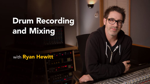 Lynda.com has launched a series of drum recording and mixing videos that we shot at East/West Studios in Hollyood with some fantastic guests