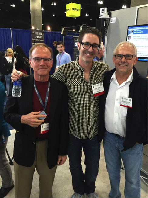 Audio Technica hosted an AMA with yours truly at the 2014 AES show in LA.  Pictured here with Jeff Simcox of A/T and my guru, Elliot Scheiner